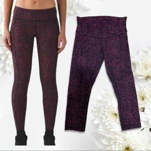 Lululemon Speed Tight Shatter Dust Coral Pants